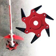 Новейший 6 зубов диск для резания триммер металлические лезвия Триммер головка 65Mn садовый электротриммер головка для газонокосилки Прямая поставка