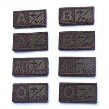 Тактический крови тип Вышитые плеча нашивки Военная Униформа A B AB O положительный отрицательный Высокое качество патч