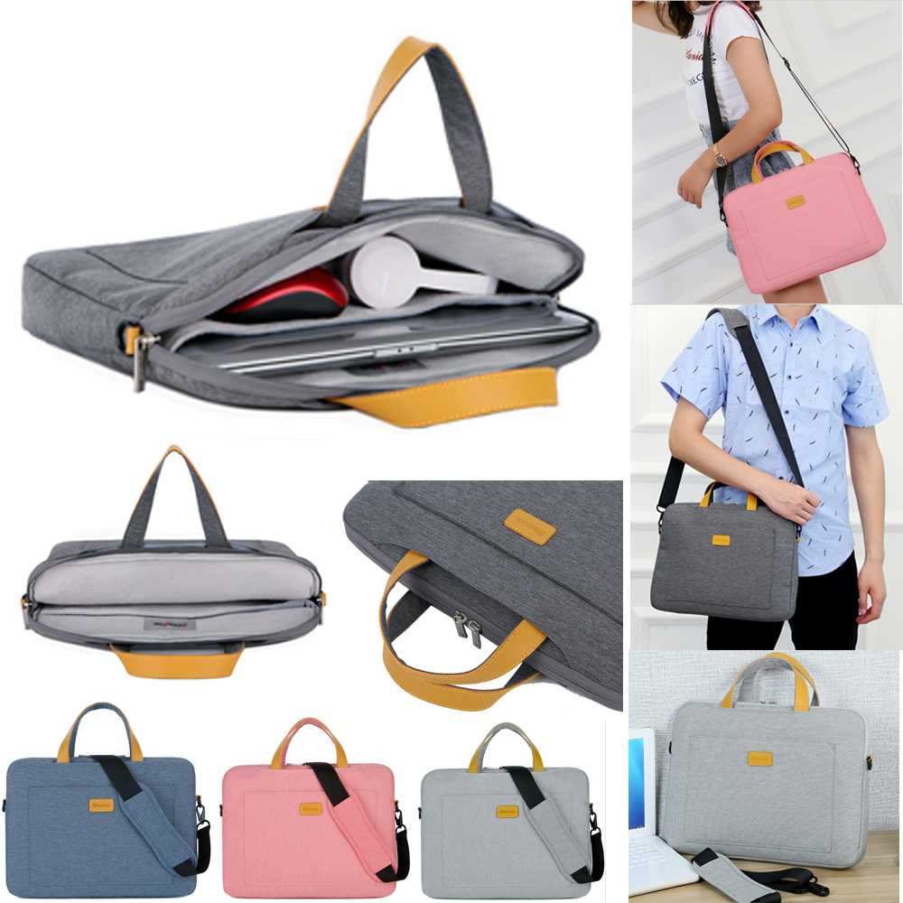 Nylon 13 14 15.6 Laptop Shoulder Bag Sleeve Pouch Bag For Xiaomi Air Macbook Air Pro Lenovo Dell HP Asus Acer Notebook Case(China)