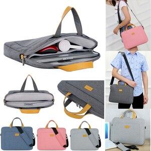 Image 2 - Нейлоновая сумка на плечо для ноутбука 13, 14, 15,6 дюймов, сумка чехол для Xiaomi air, Macbook, Air Pro, Lenovo, Dell, HP, Asus, Acer, чехол для ноутбука