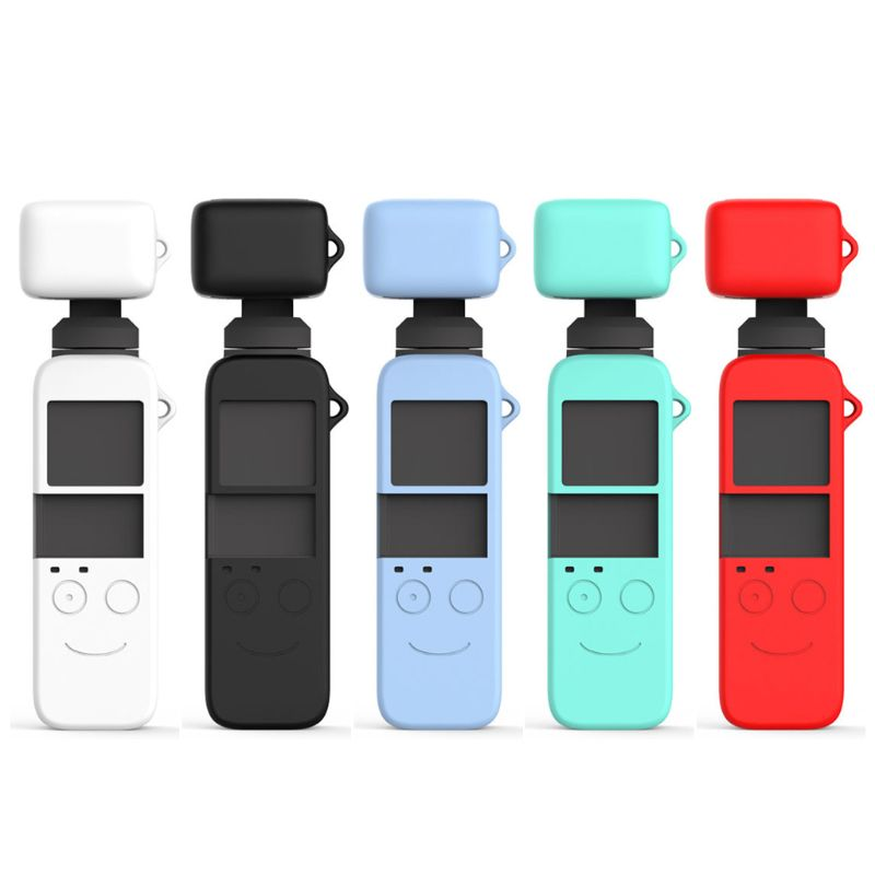 1Set Soft Silicone Case Protective Cover Lens Housing Skin Shell For DJI Osmo Pocket Gimbal Camera Accessories Kit