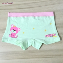 Cotton Bear underwear for baby girls Girl Underwears Panties 2017 Kids Underpant M-XL 3-8Y 1 pc little girl elastic panties 718