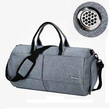 Купить с кэшбэком 30L Men Large Capacity Gym Bags Waterproof Nylon Fitness Handbag Basketball Fotball Storage Crossbody Bags Outdoor Travel Bags