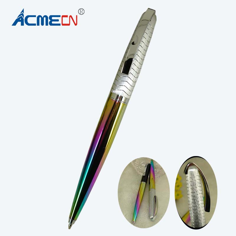 612bb917504fc 2018 New Design Multi-color Ball Pen 40g Metal Heavy Fashion Ballpoint Pen Exclusive  Gifts for Men Office Writing Instruments