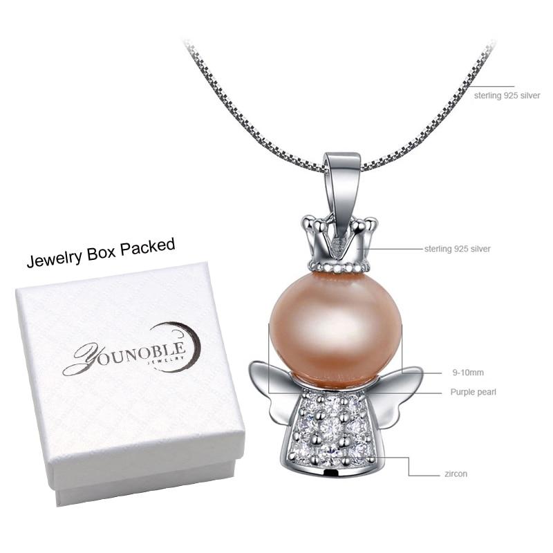 Real Hermosa perla de agua dulce colgante de plata 925, joyería de - Joyas - foto 6