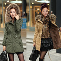 Winter Slim Thickening Detachable Large Fur Collar Long Plus Velvet Design Wadded Jacket Women Cotton-Padded Jacket Snow Wear