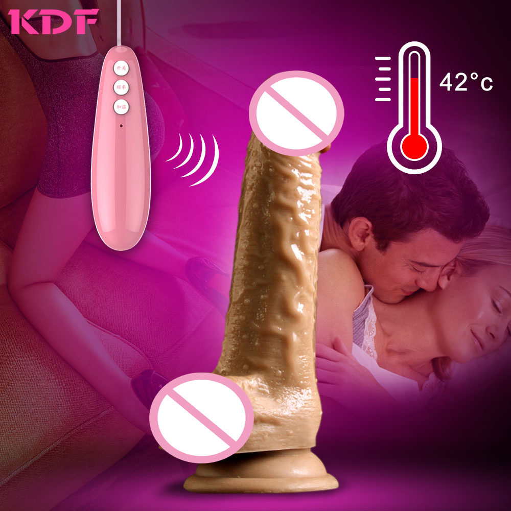 Dildo Vibrators for Women Remote Control Big Huge Big Silicone Realistic Dildo Penis Vibrator Sex Toys for Woman Couples Erotic electric heating penis silicone realistic big dildo vibrator sex toys for woman lifelike huge dick foreskin usb charging
