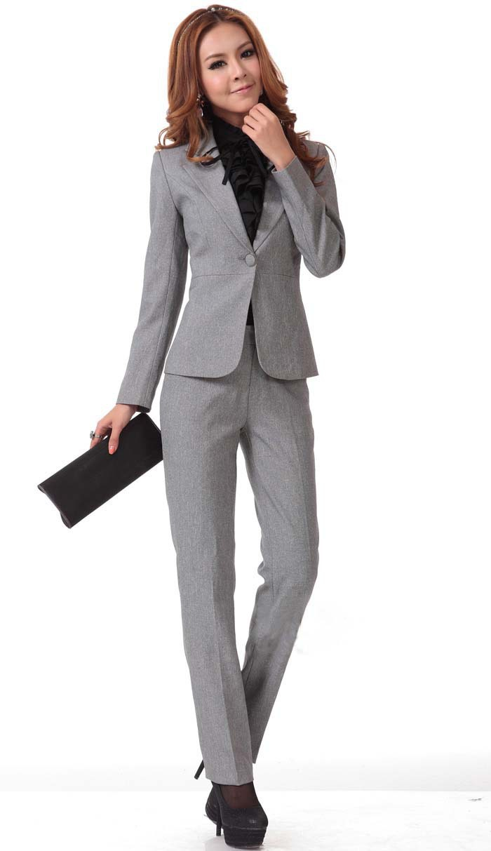 Hot Sale Women S Wear Ladies Dress Suit Slim Fashion Career Suits Ladies Women Business Suits Formal Office Suits Work Suit Women Suit Officesuit Gray Aliexpress