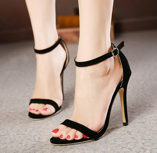 shoes woma sapato feminino Stiletto With Slim Strap Sandals Women's Shoe zapatos mujer women sandals high heels Lady dress party