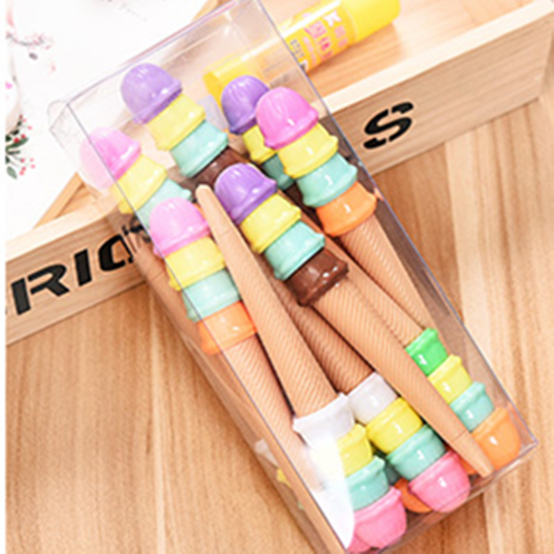2016 New Arrival 0.5 MM Point Macarons Ice Cream Candy Color Smooth Writing Gel Pen for School Supply, 12pcs Free Shipping