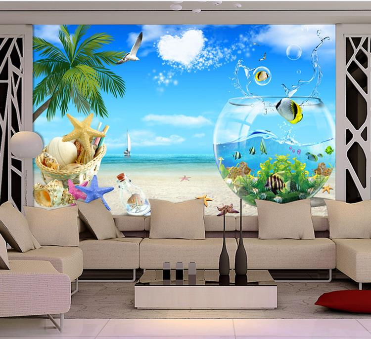 mural living background woven stereo non 3d tv