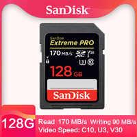 Carte sd SanDisk Extreme Pro sd card32gb classe 10 64gb sd 128gb scheda sd256G SDHC SDXC UHS-I 95 M/S V30 4K pour appareil photo numérique