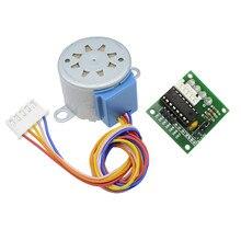 Умная электроника 28BYJ-48 12 В 4 фазы DC шестерни шаговый двигатель+ ULN2003 плата драйвера для arduino DIY Kit