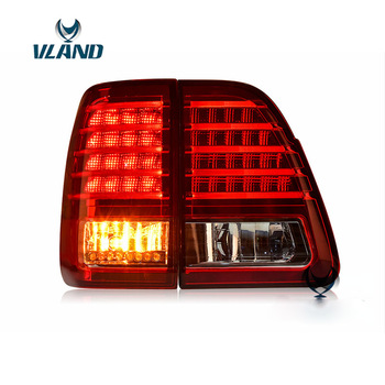 Vland Factory Car Accessories Tail Lamp for Toyota Land Cruiser 2000-2007 LED Taillight with DRL+Reverse+Signal