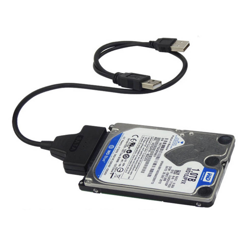 New Hot USB3.0+2.0 To SATA 22Pin Cable For 2.5inch HDD Hard Drive Solid State Drive QJY99