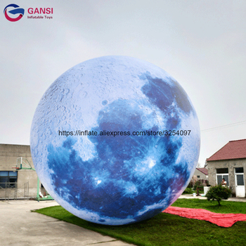 210T polyester cloth inflatable helium earth ball commercial giant inflatable planet balloon for festival fireworks advertising inflatable helium blimp air flying helium balloon for sale