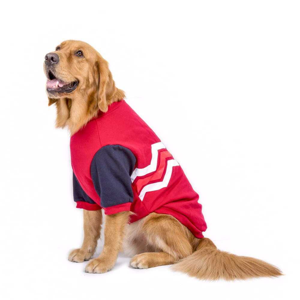 Dogs Costume Clothes All For Dogs Overalls Pet Dog Cat Striation Warm With Thick Coat Wave Striation Hooded Sweater Clothes