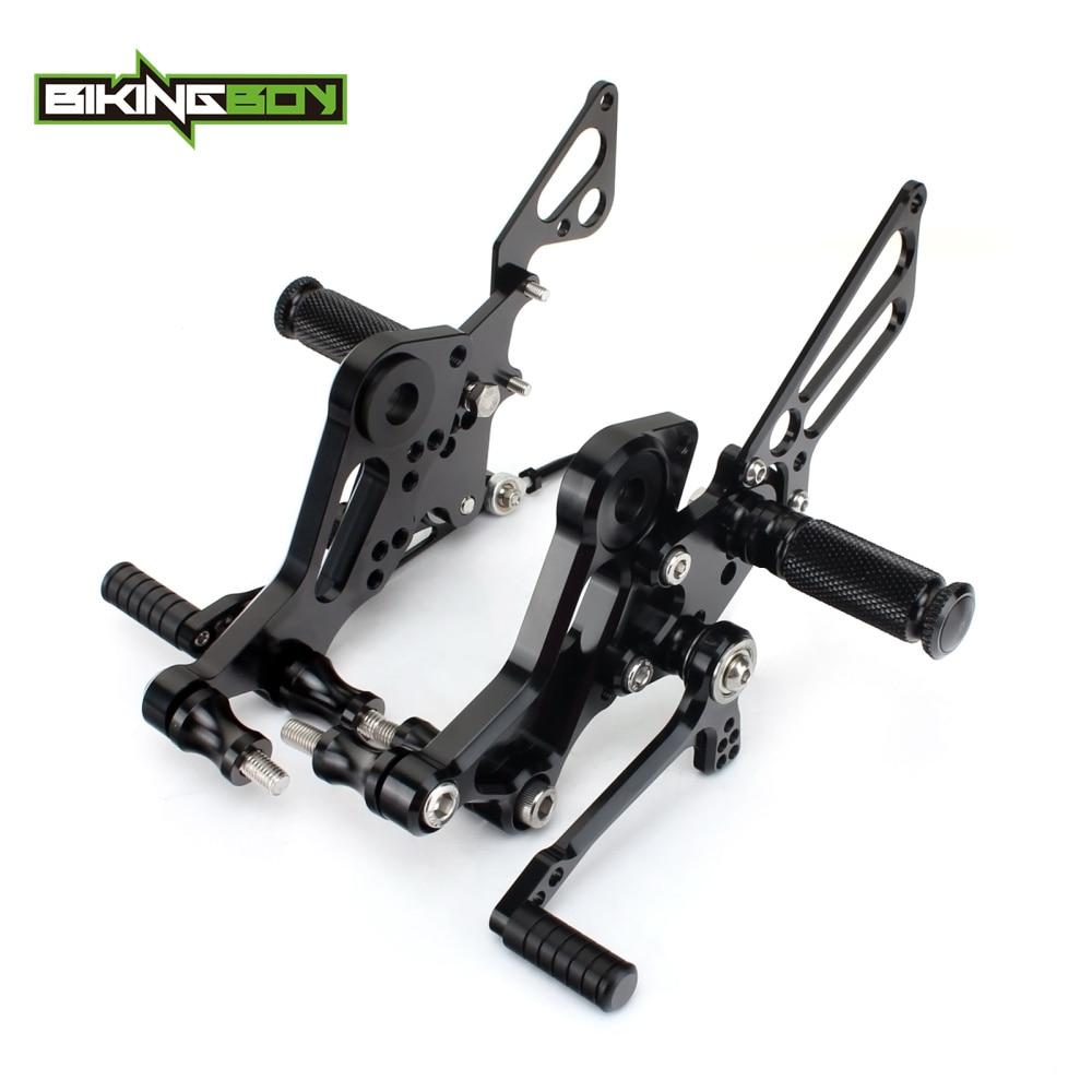BIKINGBOY Rear Sets Foot Pegs Rests For DUCATI Monster 796 2010 2011 2012 2013 2014 Footpegs 11 Adjustable Positions Rearsets