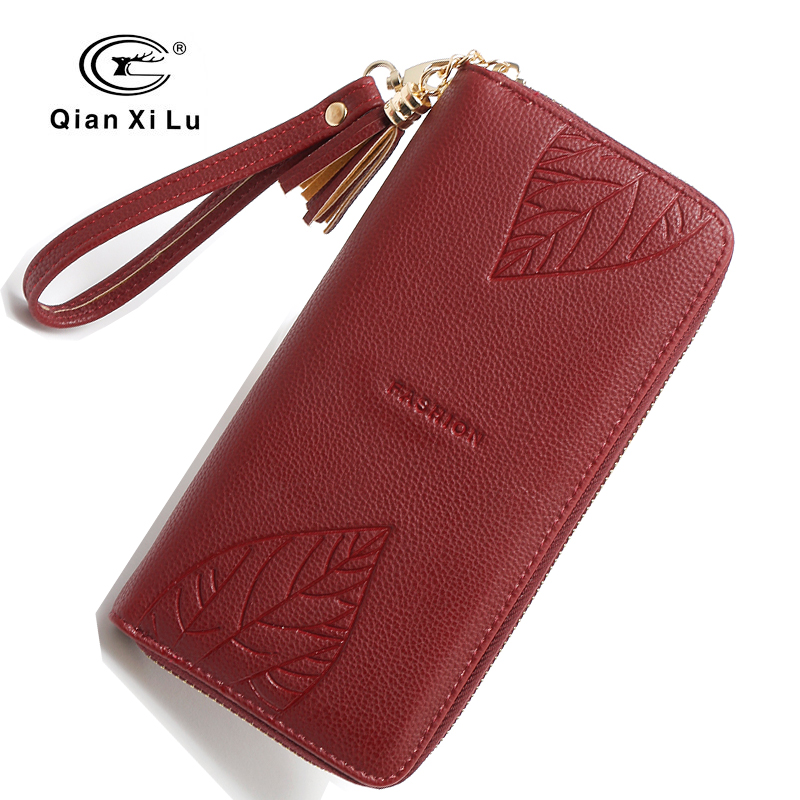 High Quality Fashion Women Wallets Lady Long Dull Polish Retro PU Leather bags Female Phone Clutch Coin Purse Ladies Zipper