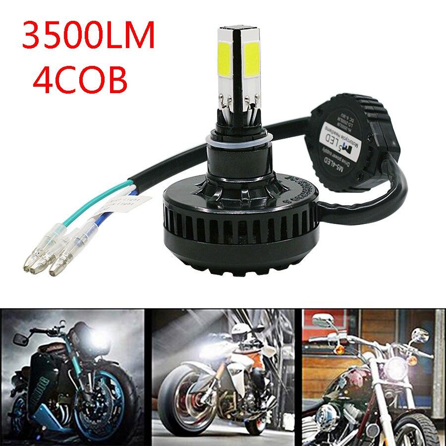 Motorcycle Headlight H4 for Harley Honda Yamaha Suzuki Kawasaki COB 3500LM LED Hi/Lo Beam Headlamp Lights 1pcs New 4 Sides