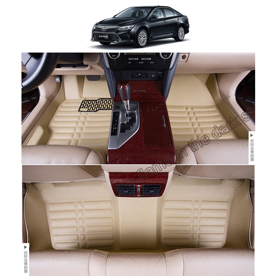 Бесплатная доставка кожа автомобиль коврик ковер коврик для toyota camry XV50 2012 2013 2014 2015 2016 2017 Daihatsu Altis toyota aurion