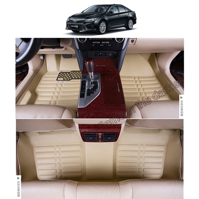 Free Shipping Leather Car Floor Mat Carpet Rug For Toyota Camry Xv50 2017 2016 Daihatsu Altis Aurion