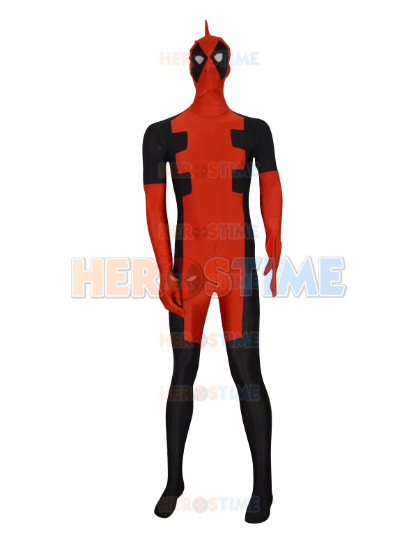 Custom made Deadpool Superhero Costume hot sale halloween spandex fullbody Deadpool Costume
