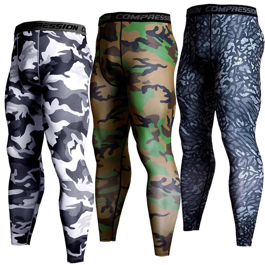 Novas Calças Dos Homens De Basquete Esporte de Corrida de Compressão Leggings Homens Camo Branco Correndo Calças Justas de Fitness Sportswear Calças MMA