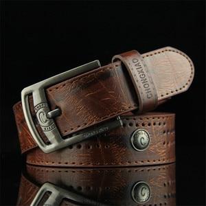 Men's Denim Casual Belt Hollow Rivet Punk Style Wide Belt for New Fashion Strap Male High Quality Jeans PU Leather Belt