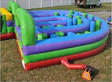 Inflatable Interactive U-Turn Obstacle Course  For Children