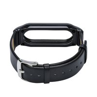 For Xiaomi Mi Band 2 MiBand 2 Genuine Leather Metal Replacement Wrist Strap Wristbands For Mi