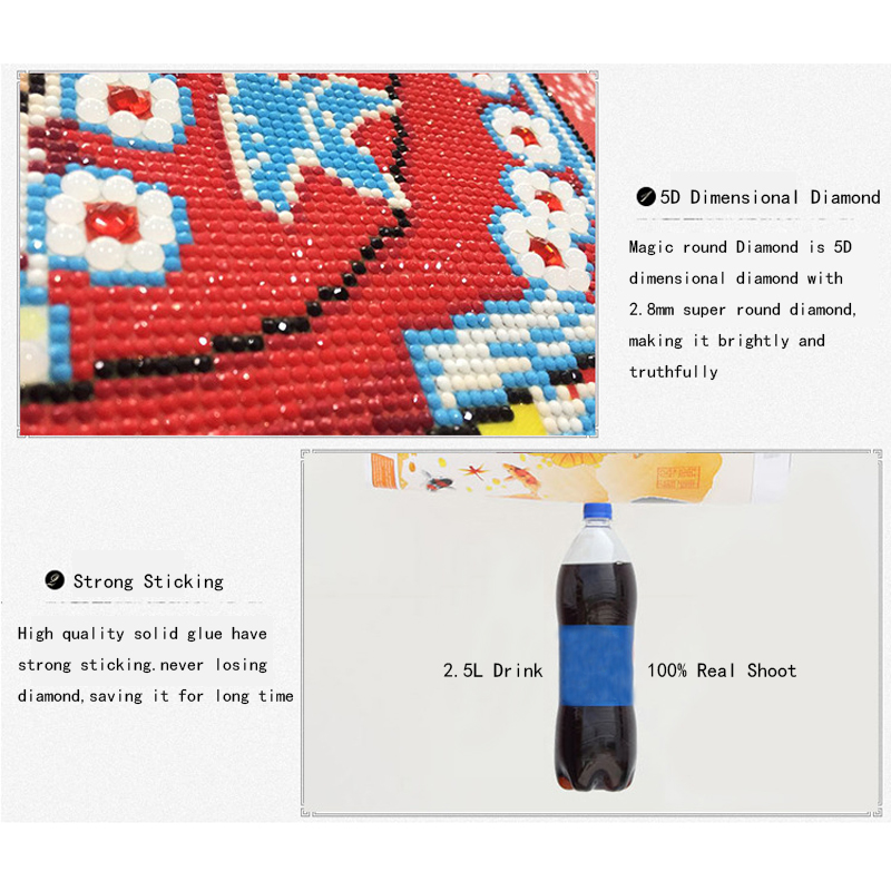 Ny 5D Diy Diamantfärg Mosaic Needlework Broderi med Rhinestones dmc - Konst, hantverk och sömnad - Foto 4