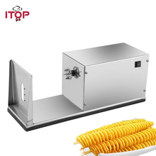 ITOP Electric French Fries Cutter Spiral Potato Machine Stainless Steel tornado Potato Cutter shredding Machine 110V/220V цена и фото