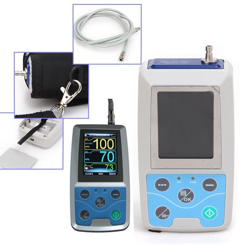 ABPM50 Holter 24 hours Ambulatory Blood Pressure Monitor Holter Digital Household Health Monitor with software USB cable Neonatl abpm50 ce fda approved 24 hours patient monitor ambulatory automatic blood pressure nibp holter with usb cable