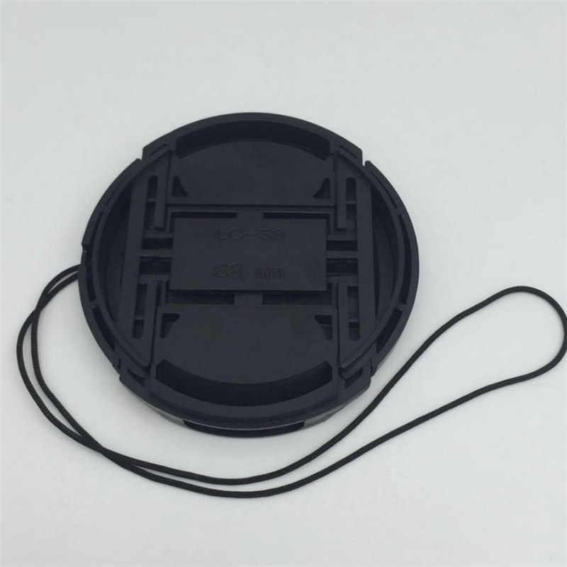 Capuchon d'objectif de protection professionnel pour Canon/Nikon/Pentax/Sony ABS Anti-poussière couvercle de protection d'objectif de caméra avec corde Anti-perte