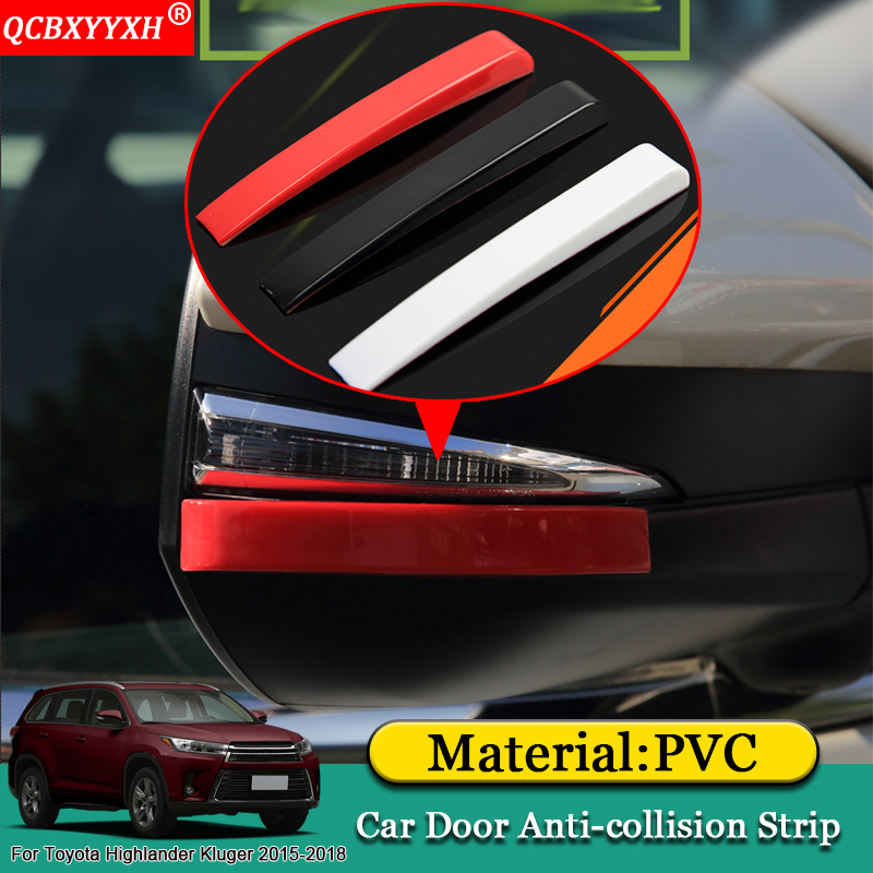 Rear Bumper Sill Cover Protector For Toyota Highlander Kluger 2014-2018 Red