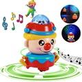 360 Rotating Espaço Robô da Dança Musical Caminhada Iluminar Luz Música Eletrônica Brinquedo Robô de Brinquedo de Presente de Aniversário de Natal Para Criança