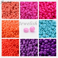 Spray Painted 2/3/4/5mm HOT Jewelry Accessories Stylish Fashionable Glass Loose Crystal Bulk Small Seed Beads Purple Coral