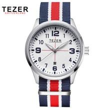 TEZER Nylon Correa Relojes Hombres Moda Deportes Reloj de la Marca de Lujo Casual Reloj Auto Fecha Reloj de pulsera Relogio Masculino masculino 2011