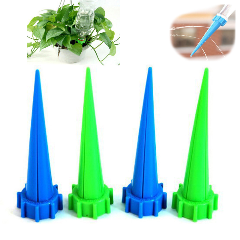8 Pcs/Lot Garden Automatic Watering Irrigation Kits Plant Flower Water Control Drip Cone Spike Waterer Bottle Irrigation System