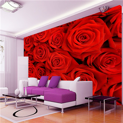 3d large wall murals three dimensional rose wallpaper marriage room living room sofa tv background
