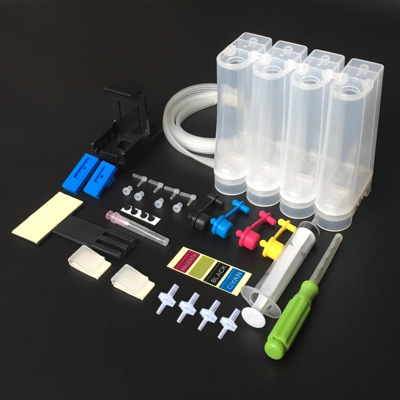 4 Color sistema de suministro Continuo de Tinta para hp 21 22 27 28 56 57 60 61 122 de 240 de 241 PG240 PGI540 impresora de inyección de tinta