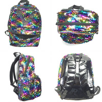 2018 OLOEY Magic Unicorn Sequin Backpack Pink Colorful Rainbow Casual Fashion For Girls School Book Bags Women Mochila Bolsa