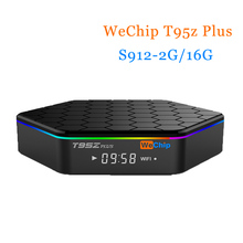 [WeChip] S912 T95Z PLUS android tv box 6.0 OS 2G/16G mi caja 2.4G + 5 GWifi BT4.0 100 M/1000 M pk x96 Kodi 17.0 HD Media Player tv caja