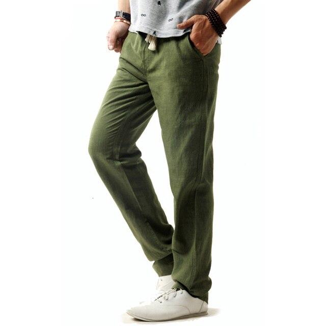 5XL Anti-Microbial Healthy Linen Pants Men  2