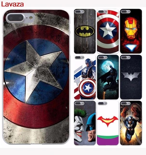 new arrival 6a537 f073d US $1.99 23% OFF Lavaza Iron man batman Captain America Hard Phone Case for  Apple iPhone 6 6s 7 8 Plus 4 4S 5 5S SE 5C Cover for iPhone XS Max XR-in ...