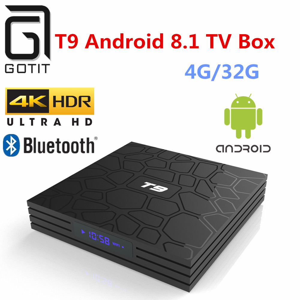GOTiT T9 Android 8 1 Smart TV Box 4G 32G Multimedia player WIFI Bluetooth 2 4G