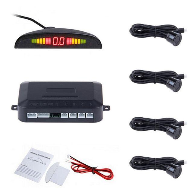 2016 melhor Auto Invertendo Detector, LED Display Digital 4 Sensores e Step-up de Alarme de Carro Sistema de Detecção de Distância Sensor de estacionamento