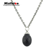 Authentic 925 Sterling Silver Fantasy Necklace With Black Onyx Chain Without Beads Pendant Dangle Fit Brand Necklace Jewelry(China)