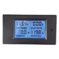 PZEM 051 dc 100v 100a digital voltmeter ammeter Energy Panel Meter LCD current voltage meter from PEACEFAIR factory